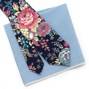 "1940s Fruit and Floral Necktie - General Knot & Co. ,  Classic Necktie 2 7/8"" x 58"" - Neckwear and travel bags"