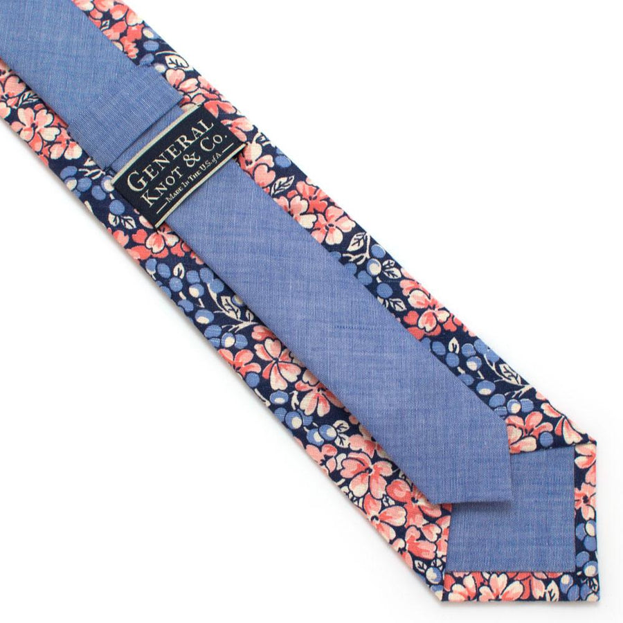 "1940s Mountain Berry Floral Necktie - General Knot & Co. ,  Classic Necktie 2 7/8"" x 58"" - Neckwear and travel bags"