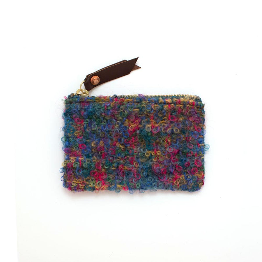 1940s Scottish Boucle Zipper Wallet - General Knot & Co. ,  Women's Wallets - Neckwear and travel bags