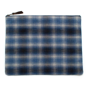 1940s Shadow Plaid Laptop Sleeve/Carryall - General Knot & Co. ,  Bags - Neckwear and travel bags