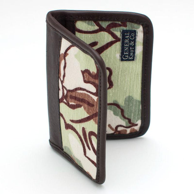 1940s Woodland Camo Card Case - General Knot & Co. ,  Wallet - Neckwear and travel bags