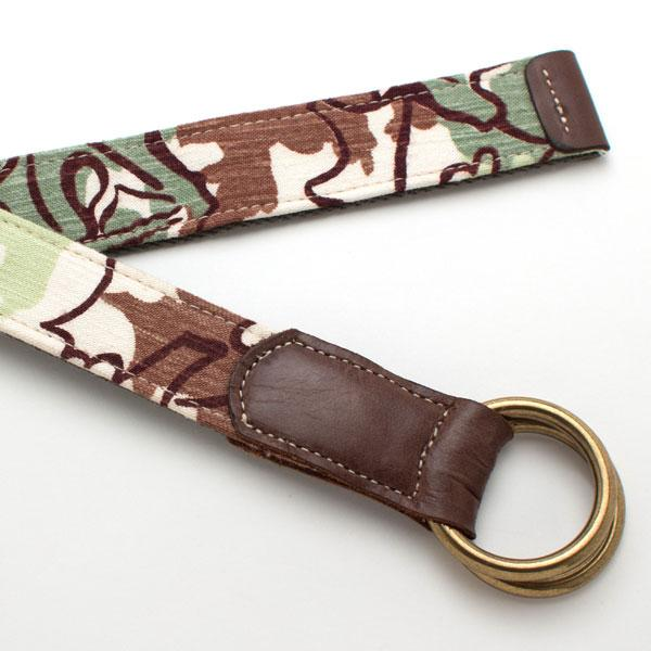 1940s Woodland Camo O-Ring Belt - General Knot & Co. ,  O Ring Belt - Neckwear and travel bags