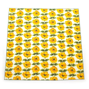 "1940s Yellow Poppies Bandana - General Knot & Co. ,  Neck Scarves 20""x 20"" - Neckwear and travel bags"