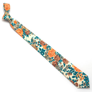 "1950s Ashford Floral Necktie - General Knot & Co. ,  Classic Necktie 2 7/8"" x 58"" - Neckwear and travel bags"