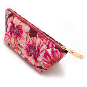 1950s Bright Poppies Travel Clutch - General Knot & Co. ,  Bags - Neckwear and travel bags