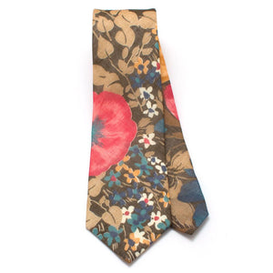 "1950s Forest Garden Necktie-A - General Knot & Co. ,  Classic Necktie 2 7/8"" x 58"" - Neckwear and travel bags"