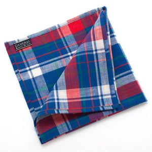"1950s Springfield Plaid Pocket Square - General Knot & Co. ,  Squares 13""x13"" - Neckwear and travel bags"