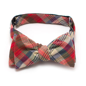 "1950s Woodrow Plaid Bow Self-Tied Classic Bow Tie 2.5"" at Widest General Knot & Co."
