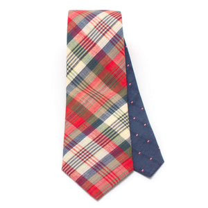 "1950s Woodrow Plaid Necktie - General Knot & Co. ,  Classic Necktie 2 7/8"" x 58"" - Neckwear and travel bags"