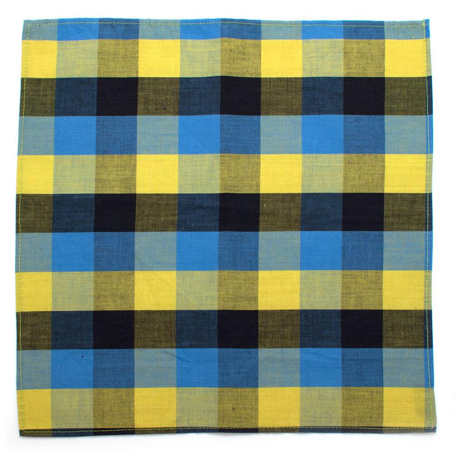 "1960s Cheyenne Check Square - General Knot & Co. ,  Squares 13""x13"" - Neckwear and travel bags"