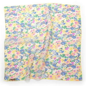 "1960s Chiffon Floral Bandana - General Knot & Co. ,  Neck Scarves 20""x 20"" - Neckwear and travel bags"