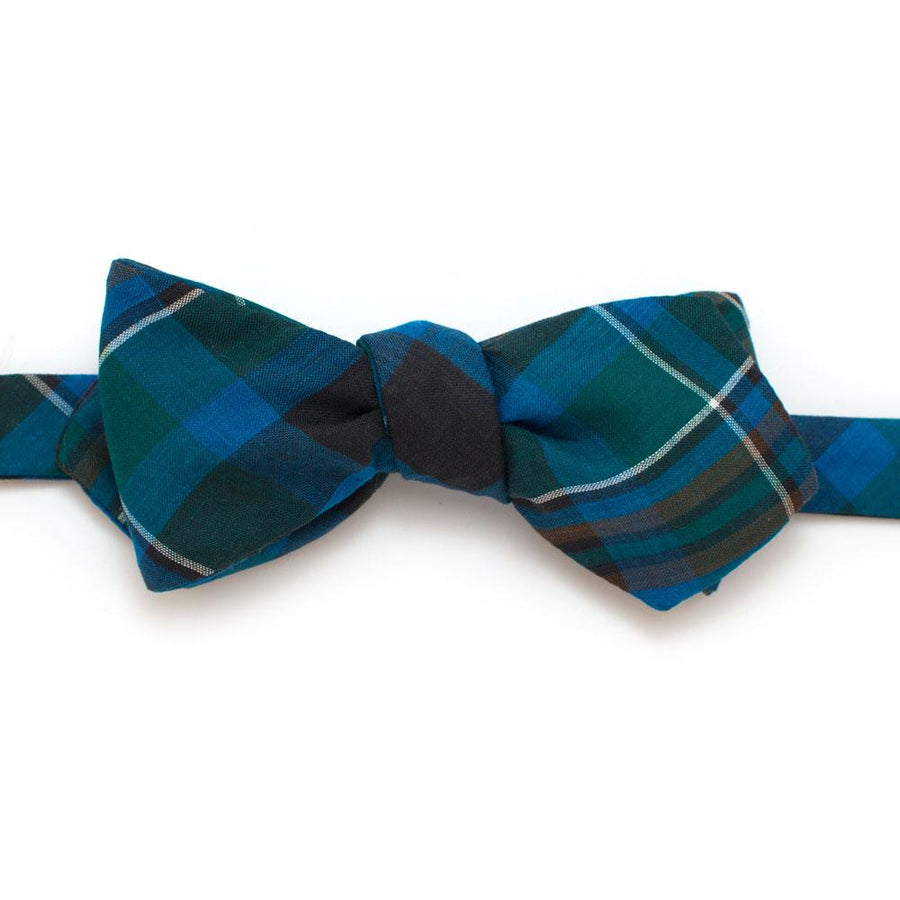 "1960s Cool Cowboy Plaid Bow - General Knot & Co. ,  Self-Tied Diamond Point Bow 2.5"" at widest - Neckwear and travel bags"