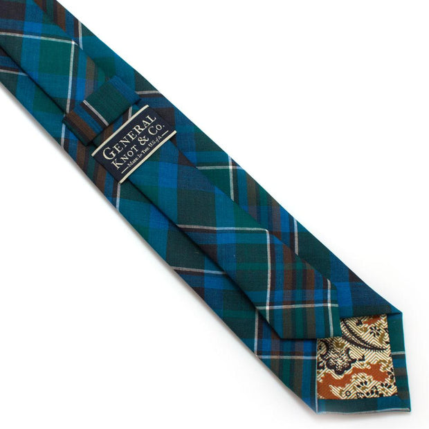 "1960s Cool Cowboy Plaid Necktie - General Knot & Co. ,  Classic Necktie 2 7/8"" x 58"" - Neckwear and travel bags"