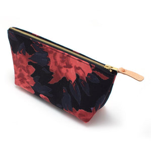 1960s Dark Peony Travel Clutch - General Knot & Co. ,  Bags - Neckwear and travel bags