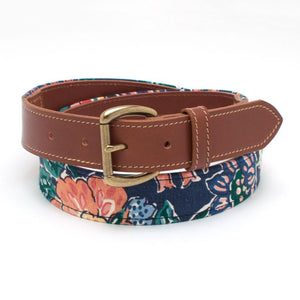 1960s Floral Tab Belt - General Knot & Co. ,  Tab Belt - Neckwear and travel bags