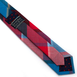 "1960s Great Lakes Check Necktie - General Knot & Co. ,  Classic Necktie 2 7/8"" x 58"" - Neckwear and travel bags"