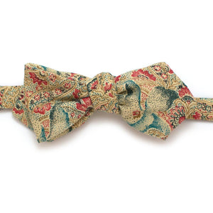 "1960s Ravello Paisley Diamond Point Bow - General Knot & Co. ,  Self-Tied Diamond Point Bow 2.5"" at widest - Neckwear and travel bags"