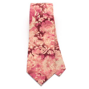 "1960s Smoky Plum Floral Necktie - General Knot & Co. ,  Classic Necktie 2 7/8"" x 58"" - Neckwear and travel bags"