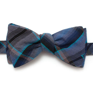 "1960s Southfork Plaid Bow - General Knot & Co. ,  Self-Tied Classic Bow Tie 2.5"" at Widest - Neckwear and travel bags"