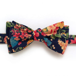 "1960s Spring Garden Classic Bow - General Knot & Co. ,  Self-Tied Classic Bow Tie 2.5"" at Widest - Neckwear and travel bags"