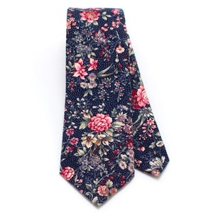 "1960s Utrecht Floral Necktie - General Knot & Co. ,  Classic Necktie 2 7/8"" x 58"" - Neckwear and travel bags"