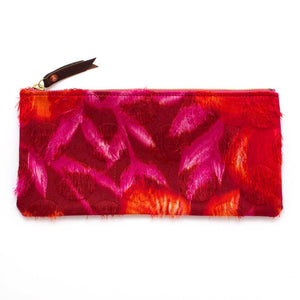 1970s Flame Dot Envelope Pouch - General Knot & Co. ,  Women's Carryalls - Neckwear and travel bags