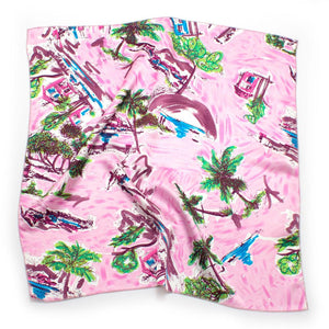1970s Tropic Silk Bandana - General Knot & Co. ,  Archives - Neckwear and travel bags