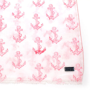 Anchor Cotton Scarf - General Knot & Co. ,  Scarves - Neckwear and travel bags
