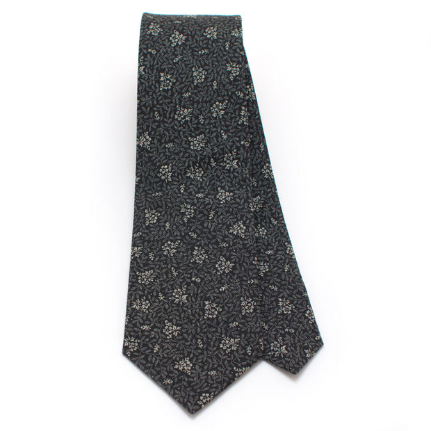 Charcoal Beaumont Floral Necktie
