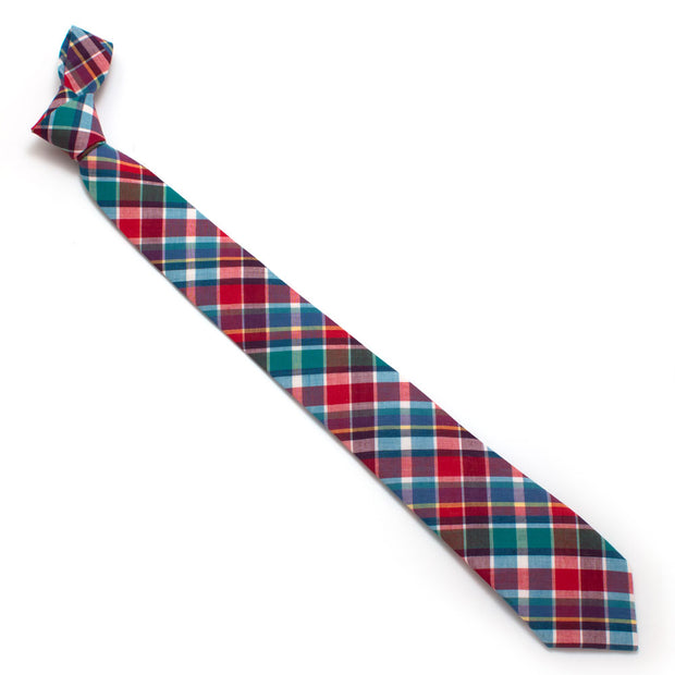 1940s Prism Plaid Necktie