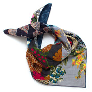 Bengal Patchwork Double Sided Bandana- Grey