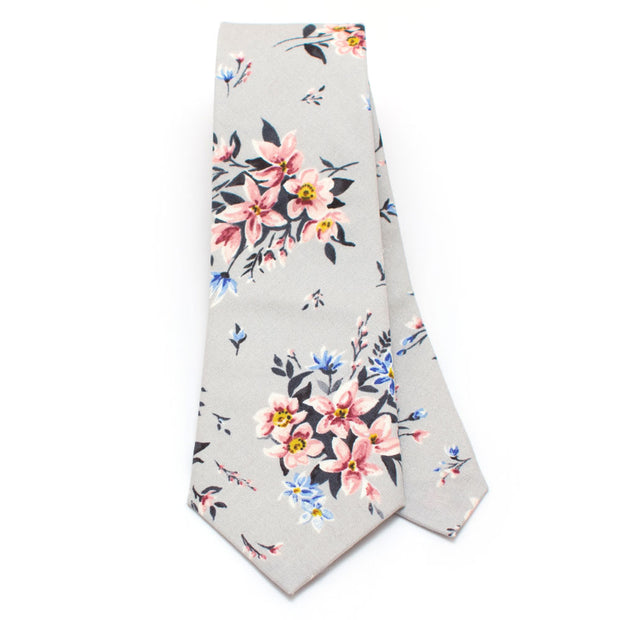 Bell Tower Floral Necktie