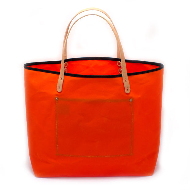 Orange Waxed Canvas All Day Tote