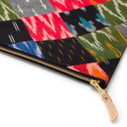 Ikat Patchwork Laptop Sleeve-Carryall Large