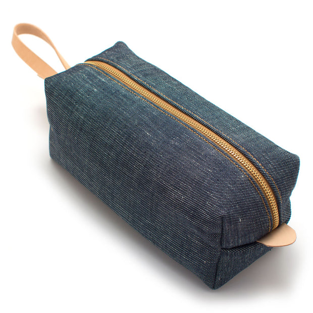 Japanese Denim Travel Kit