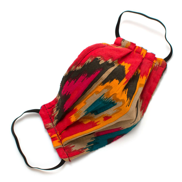 Reusable Flame Ikat Face Mask- Elastic Loops
