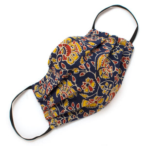 Reusable Ink Paisley Face Mask- Elastic Loops