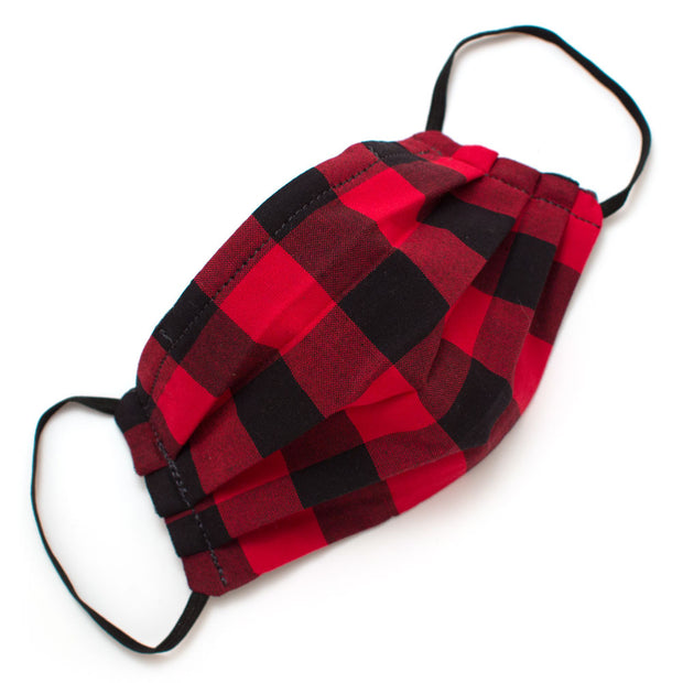 Reusable Buffalo Check Face Mask- Elastic Loops