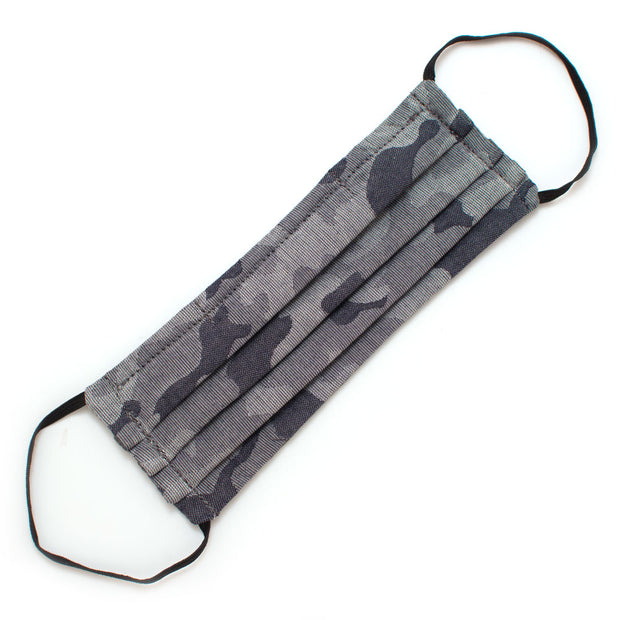 Reusable Grey Camo Face Mask- Elastic Loops