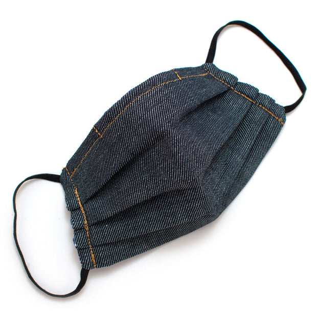 Reusable Japanese Denim Face Mask- Elastic Loop