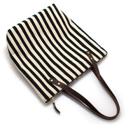 Black & Flax Awning Stripe Portfolio Tote - General Knot & Co. ,  Bags - Neckwear and travel bags