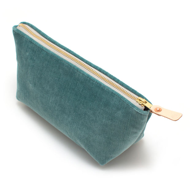 Sea Glass Velvet Travel Clutch