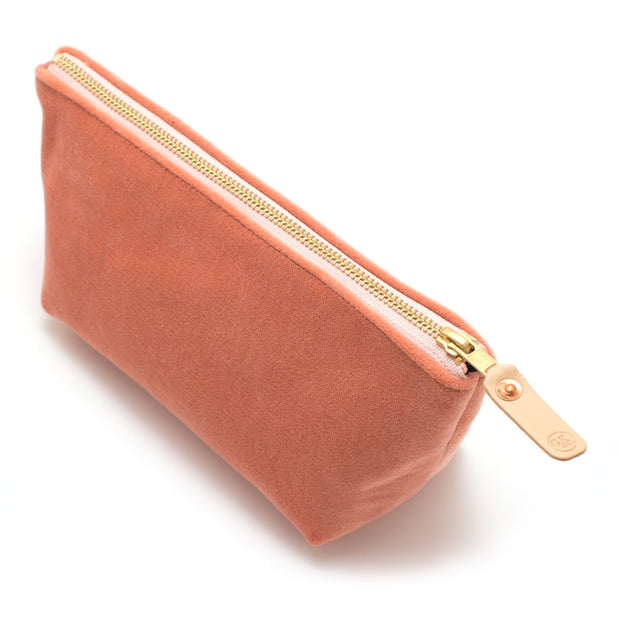 Cameo Velvet Travel Clutch