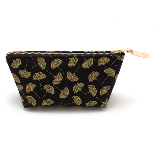 Gold Ginkgo Leaf Travel Clutch