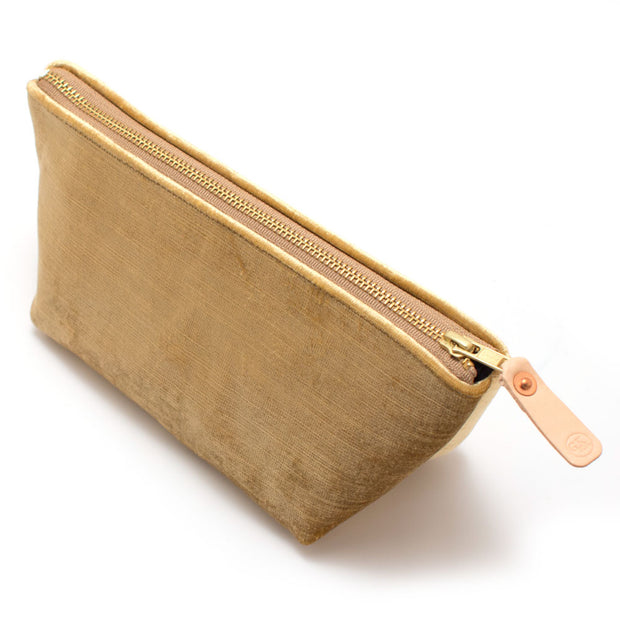 Rose Gold Velvet Travel Clutch