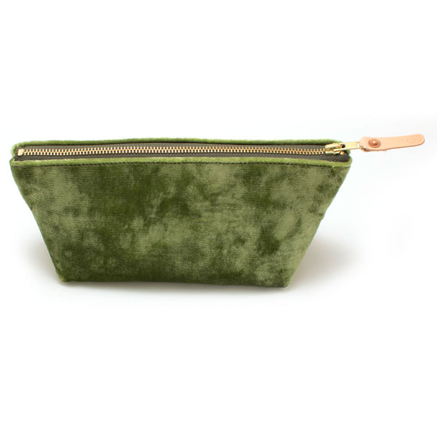 Pistachio Velvet Travel Clutch
