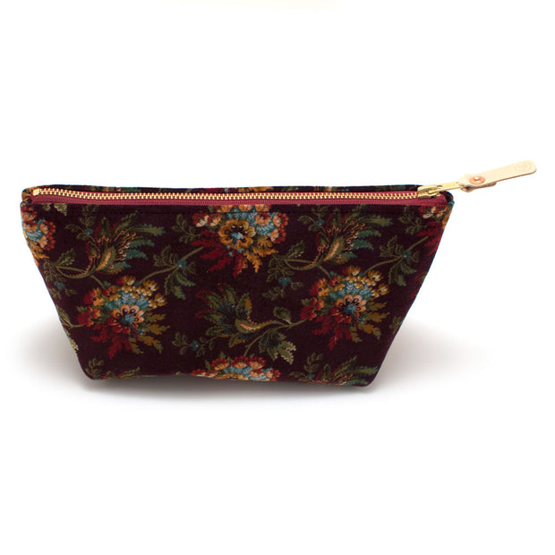 Pemberley Floral Velvet Travel Clutch