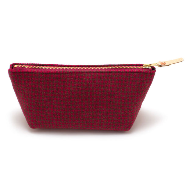 Mini Houndstooth Wool Travel Clutch