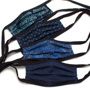 Reusable 4-Pack Face Masks: Blues- Ties