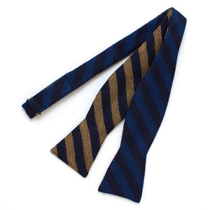 "Academy Stripe Classic Bow - General Knot & Co. ,  Self-Tied Classic Bow Tie 2"" at Widest - Neckwear and travel bags"